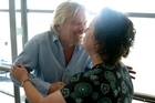 Sir Richard Branson tried to strangle Michele Hewitson during their interview but she can't think why. Picture / Kenny Rodger