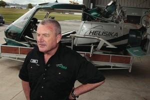 Helicopter pilot Greg Gribble. Photo /  Brett Phibbs