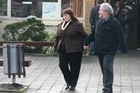Dog breeders Daryl Kirsty and David Balfour leave the Dannevirke District Court after one of their earlier court appearances. Photo / File