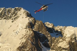 A rescue helicopter is on its way to pick up a man injured in the Aoraki-Mt Cook National Park. File photo
