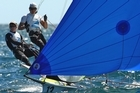 Peter Burling and Blair Tuke won silver in the 49er class. Photo / Getty Images