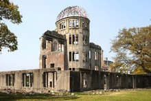 The Atomic Bomb Dome survived the explosion on August 6, 1945 but everybody inside was vaporised.
