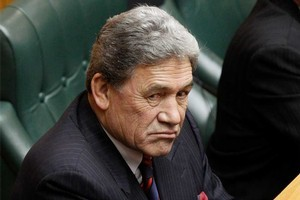 NZ First Winston Peters was sworn into Parliament after delivering the oath, pledging alliance to the Queen. Photo / Mark Mitchell
