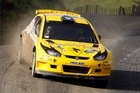 Alister McRae in action during the 2011 International Rally of Whangarei. Photo / John Stone - Northern Advocate