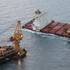 Rena and the salvor ship Smit Borneo as seen from the air. Photo / Maritime New Zealand