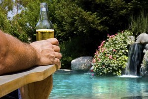 To be able to enjoy a drink outdoors on a solid seat is a treat. Photo / Thinkstock