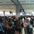 Christchurch airport - pretty full! Photo / Twitter / Jeremy Bank