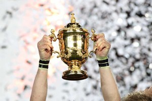 The Webb Ellis Cup. Photo / Paul Estcourt