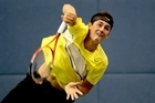 Bernard Tomic during the Shanghai Rolex Masters. Photo / Getty Images
