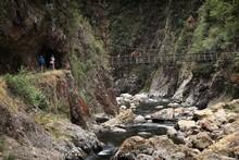 A swing bridge near the Talisman Mine. Photo / Greg Bowker
