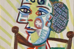 'Femme à la Résille' by Pablo Picasso, at the Auckland Art Gallery, provides a colourful representation of symmetry-breaking caused by the Higgs boson, according to theory. Photo / Supplied