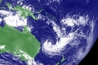 Tropical cyclones Grant (off northern Australia) and Fina off Queensland. Photo / Supplied