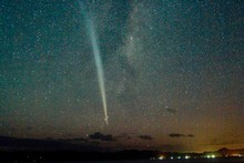 Comet Lovejoy over Cooks Beach. Photo / Jane Dove Juneau 