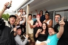 Friends get together to see the New Year at Whangamata. Photo / Janna Dixon