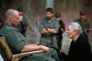 Ralph Fiennes is Caius Martius and Vanessa Redgrave is his mother Volumina in Coriolanus. Photo / AP