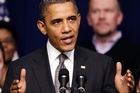 US President Barack Obama spent most of the year with poor approval ratings as he battled the Republicans. Photo / AP