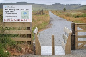 One of the many cattle stops on the Pou Herenga Tai - Twin Coast cycle trail that runs from Okaihau to Kaikohe on the old rail lin. Photo / Greg Bowker