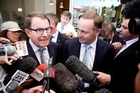 Act candidate John Banks and Prime Minister John Key had a memorable cup of tea in Epsom. Photo / Dean Purcell