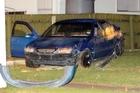The scene of the crash in Manurewa. Photo / Sarah Ivey