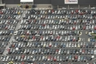 The carpark at Westfield Albany Shopping Centre has quickly filled today as bargain hunters take advantage of the post-Christmas sales. File photo / Brett Phibbs