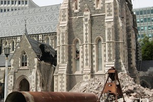 The landmark Christchurch Cathedral became a symbol of the devastation. Photo / Sarah Ivey