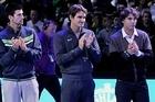 Novak Djokovic, Roger Federer and Rafael Nadal. Photo / Getty Images