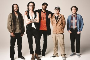 One of the reasons Incubus has stuck together is they know when to take a break from each other, says bassist Ben Kenney (centre). Photo / Brantley Gutierrez
