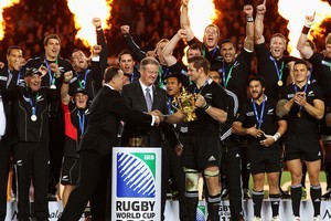 The All Blacks win the Rugby World Cup. Photo / Getty Images