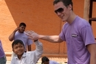 Staff from British software retailer Softcat travelled to Cmabodia with Hands Up Hoildays. Photo / Supplied