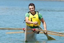 Justin's first time in his canoe was nerve-racking and then exhilirating. Photo / Brett Phibbs
