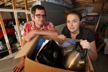 Daniel and Tara Hight finally get to unpack their missing boxes. Photo / Vision Media