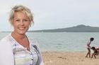 Louise Mackenzie on Mission Bay beach. Photo / Natalie Slade