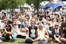 Crowds at Laneway Festival at Aotea Square. Photo /  Richard Robinson