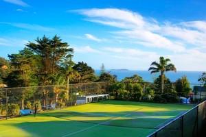 Anyone for tennis at the Waiheke Island Resort? Photo / Supplied