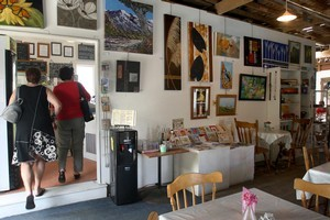The Packing Shed Gallery & Cafe in Henderson. Photo / Natalie Slade