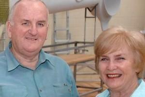 Trevor and Glenda Rogers. Photo / Chris Gorman