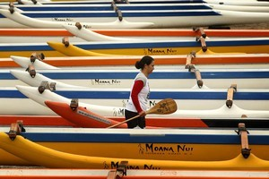 Originally a male-dominated sport, waka ama now attracts a lot of women and junior participants. Photo / Alan Gibson