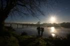 Dublin St bridge over Whanganui River, near where a shark has been spotted. Photo / Wanganui Chronicle