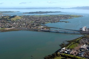 Onehunga port and Manukau Harbour. Photo / Richard Robinson