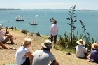 Spectators watch the action on the water from Devonport. Photo / Brett Phibbs