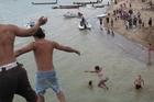 Leaping from Waitangi Bridge on Waitangi Day. File photo / Northern Advocate