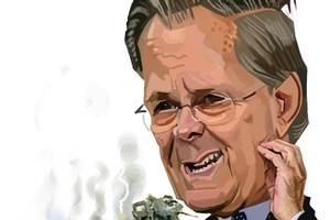 Donald Rumsfeld. Cartoon / Murray Webb