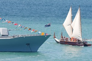 Yachts sail past HMNZS Te Mana during 2009's beautiful Auckland Anniversary Day on the Waitemata Harbour. Photo / Brett Phibbs