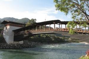 Punakha's new bridge. Photo / Jill Worrall