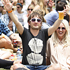 Crowds enjoy the sun at Laneway Festival in Aotea Square. Photo / Richard Robinson