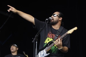 Logan Bell of Kiwi band, Katchafire. Photo / The Daily Post