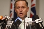 Prime Minister John Key announcing the election date. Photo / Mark Mitchell