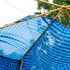 A damaged childrens playground shade sail is seen after the passing of Cyclone Yasi. Photo / Getty Images