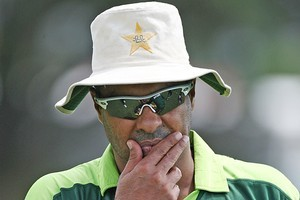 Pakistani coach Waqar Younis. Photo / Getty Images