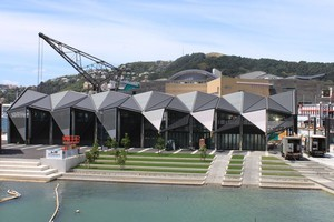 Wellington's Wharewaka o Poneke will open on Waitangi Day - without its star attraction. Photo / Paul Harper
